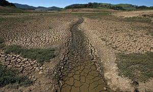 Bed of Jacarei river dam, Brazil