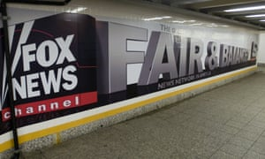 "An advertisment in the Yankee Stadium station of the New York subway for the Fox News Channel. The city of Paris has announced that it plans to sue Fox News over the reporting of ""no-go zones"" within Paris."