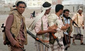 Armed rebels in Yemen