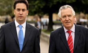 Peter Hain (right) with Labour leader Ed Miliband