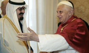 King Abdullah with Pope Benedict XVI in 2007.