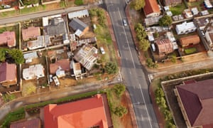 Aerial view of Soweto, which was a crucible of the fight against apartheid.