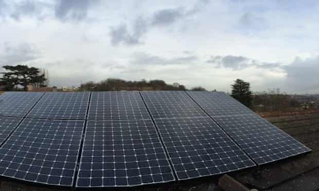Solar photovoltaic panels on Adam Vaughan's home in London