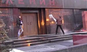"""""""'Russia protest quiz – lenin"""""""