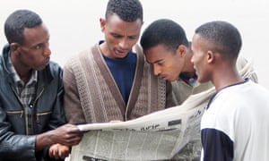 """""""Ethiopia's media should be playing a crucial role in the May elections, but instead many journalists fear that their next article could get them thrown in jail."""""""