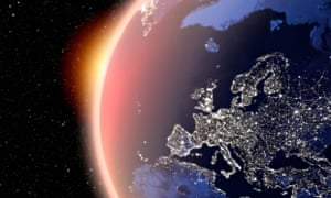 satellite image earth night