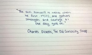quotes in handwriting