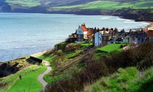 Robin Hood's bay, which marks a midway point on the walk.