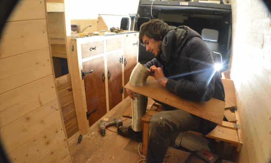 Mike Hudson fits boiler flue