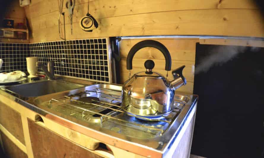 The kitchen hob Mike Hudson van
