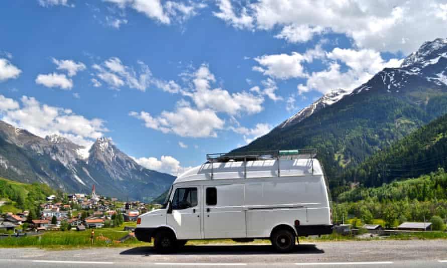 Mike Hudson's van in Austria