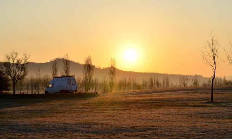 The van in northern Spain …