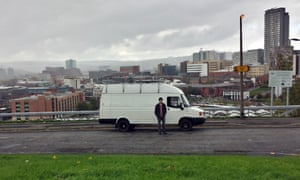 Mike Hudson and van about to leave Sheffield in 2014.