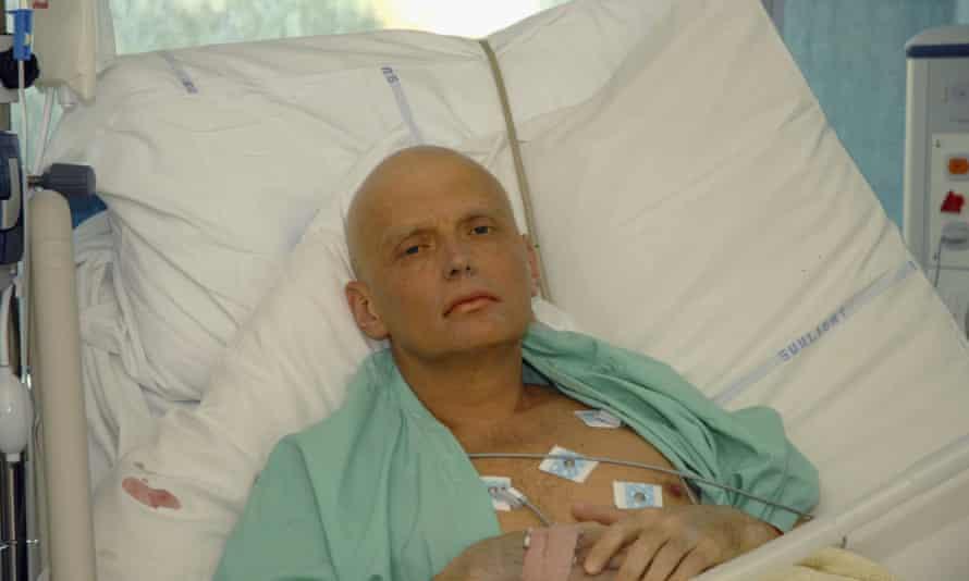 Alexander Litvinenko after being poisoned.
