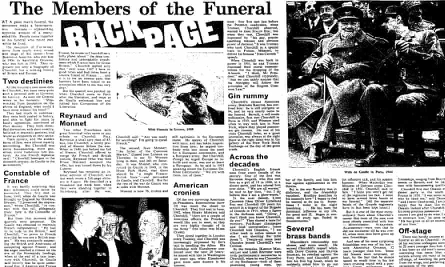 The Observer,  31January 1965