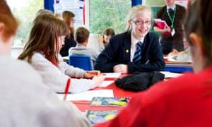 school childern in classroom