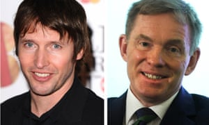 Musician James Blunt (left) and Labour shadow culture minister Chris Bryant