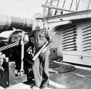 US sailor on deck in 1864