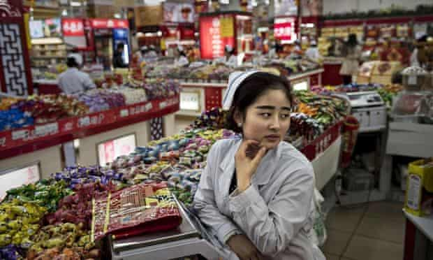 A grocery store in Beijing