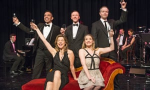 Janie Dee, front left, in Putting It Together by Stephen Sondheim at St James theatre in 2014