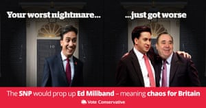 The Conservative party's new election poster targets Labour and the SNP