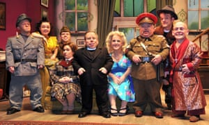 Warwick Davis (centre, in dog collar) and the Reduced Height Theatre Company, who feature in a forthcoming BBC2 documentary.