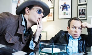 Johnny Depp and Warwick Davies in the BBC sitcom Life's Too Short.