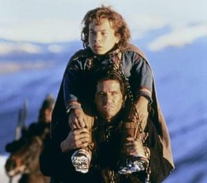 Davis with Val Kilmer in the 1988 fantasy film Willow.