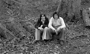Teenage boys in the woods, 1975