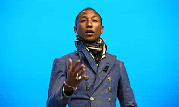 Pharrell Williams at the World Economic Forum in Davos