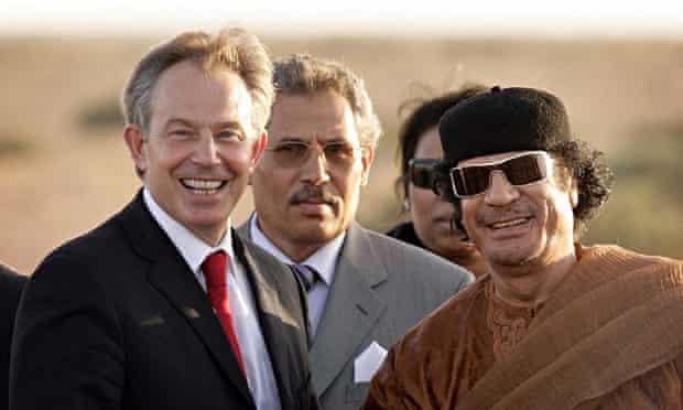 Tony Blair with Gaddafi in 2007