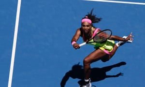 Serena Williams in action against Elina Svitolina at Melbourne Park.