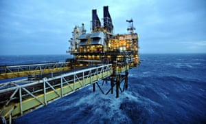 The BP ETAP oil platform in the North Sea, around 100 miles east of Aberdeen