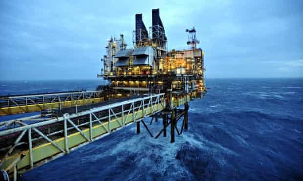 The BP ETAP oil platform in the North Sea, around 100 miles east of Aberdeen