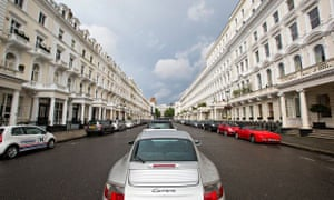 Queens Gate terrace, an exclusive address of very expensive houses in SW7 , London, UK.