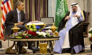 Barack Obama met with Saudi King Abdullah