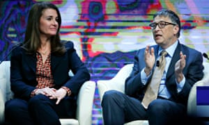 Bill and Melinda Gates speak at Davos