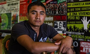 Uriel Alonso Solís, a student who survived the Guerrero attack and has accused state forces of compl
