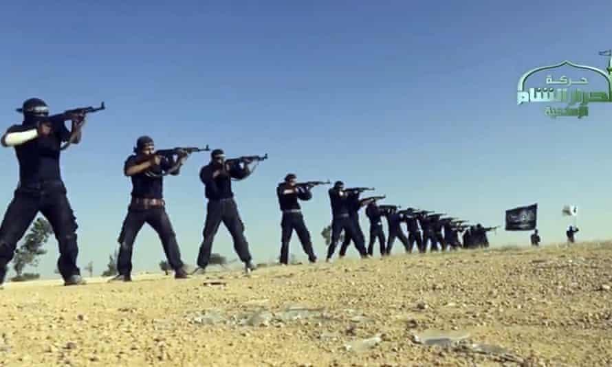 An image grab taken from an Isis propaganda video.