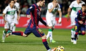 Elche v Barcelona, Lionel Messi penalty