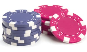 Poker chips: do the blue ones have a bad name?