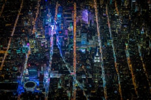 Vincent Laforet's aerials of New York at night