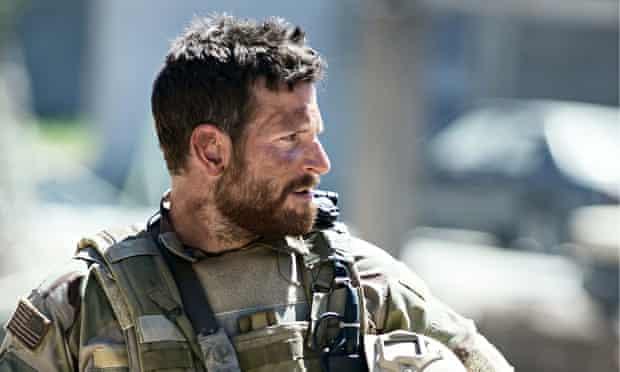 Bradley Cooper as Chris Kyle in American Sniper.