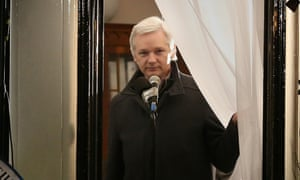 julian assange embassy window
