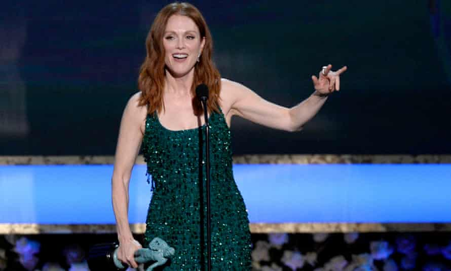 Julianne Moore accepts the award for Outstanding Performance by a Female Actor in a Leading Role for Still Alice.