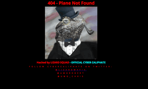 The image of a Lizard in a top hat replaced the Malaysia Airlines official portal