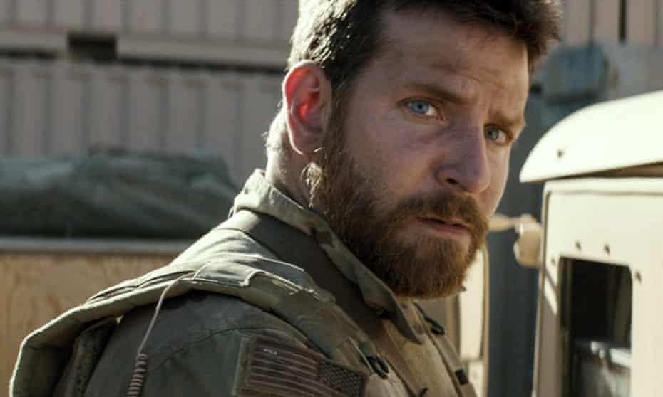 Gunning for the top …Bradley Cooper in American Sniper.