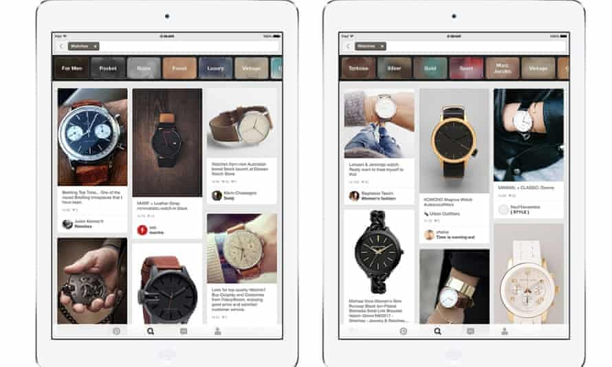 Pinterest's new search results will be filtered for the user's gender.