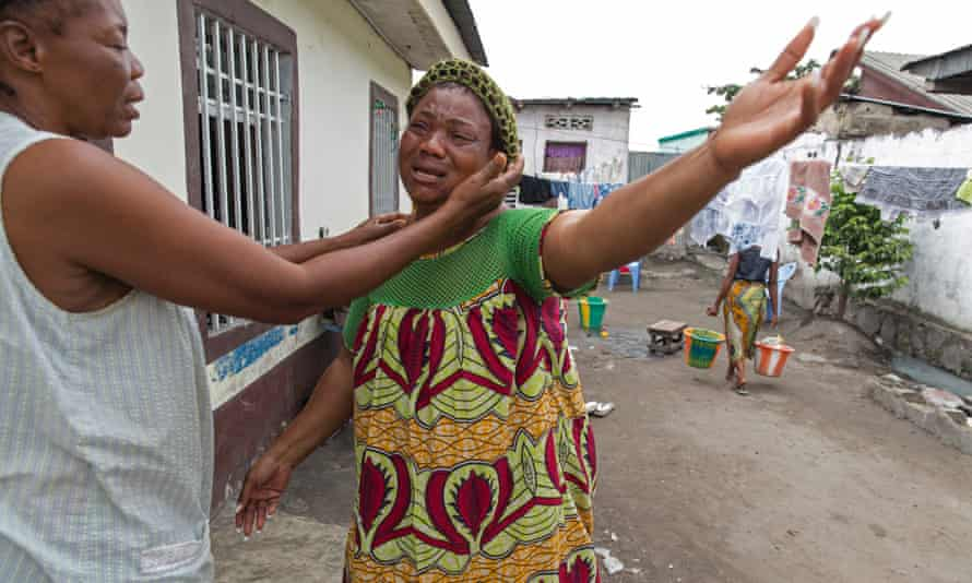 Hortense Basila, whose son Christian was shot dead during protests against planned changes to the consitution.