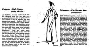 More Paris fashions: Patou and Scherrer, Guardian 27 January 1967.